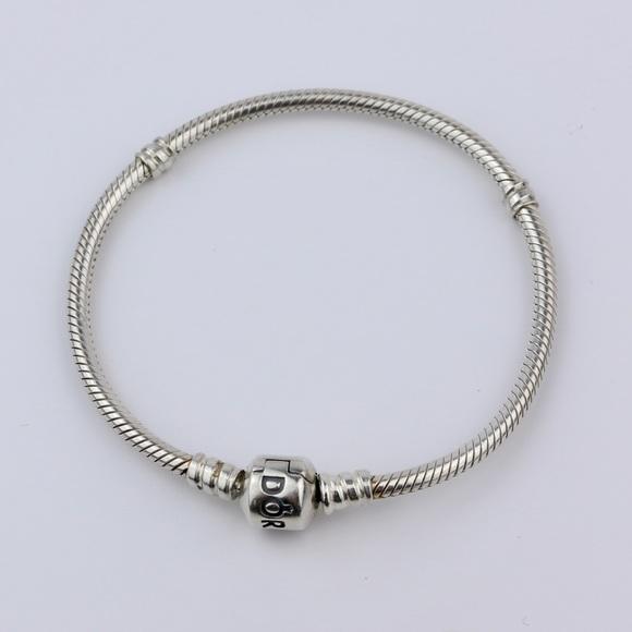6a7bc768bf8 Pandora Jewelry | Authentic Barrel Clasp Charm Bracelet | Poshmark